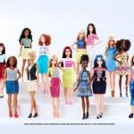 Barbie em todos os tipos de corpos, cores e tamanhos